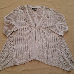 Style & Co 3/4 sleeve crochet cardigan sz XL